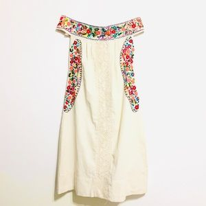 Embroidered Mexican dress Off Shoulder